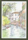 画像2: 絵葉書『ヴェネチア 水路の情景』 (2)
