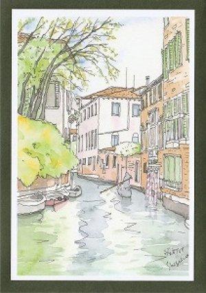 画像2: 絵葉書『ヴェネチア 水路の情景』