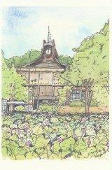 絵葉書『旧平野政吉美術館とお堀の蓮』