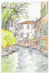 絵葉書『ヴェネチア 水路の情景』