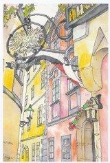 絵葉書『ウィーンのレストランGriechenbeisl(グリーヒェンバイスル)』