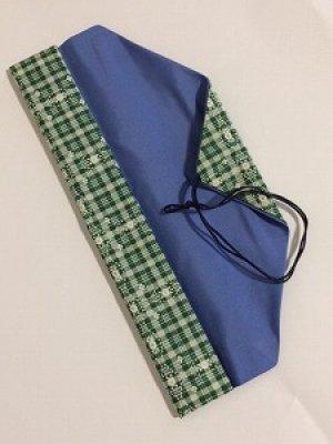 画像2: 箸袋 グリーン系チェック柄