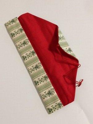 画像2: 箸袋 グリーン系の花模様ボーダー柄