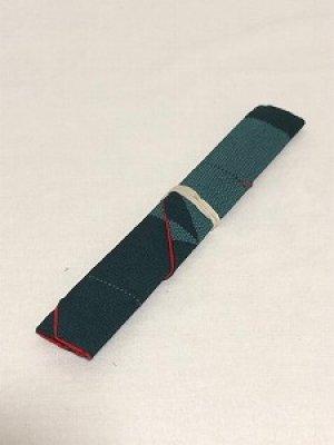 画像2: 箸袋 グリーン系ボーダー柄
