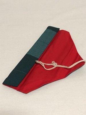 画像1: 箸袋 グリーン系ボーダー柄