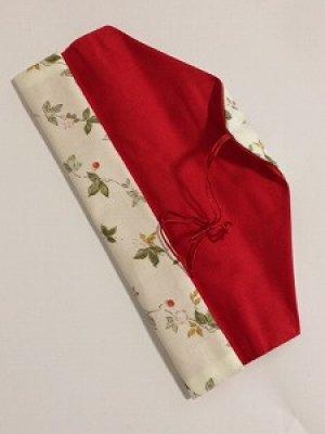 画像2: 箸袋 白花柄