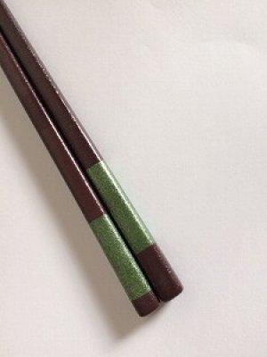 画像2: 『乾漆箸』緑