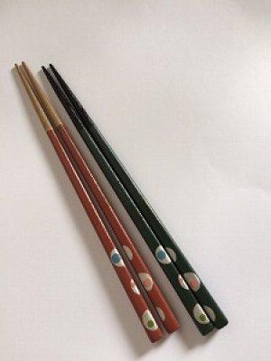 画像3: 『乾漆箸』水玉・赤