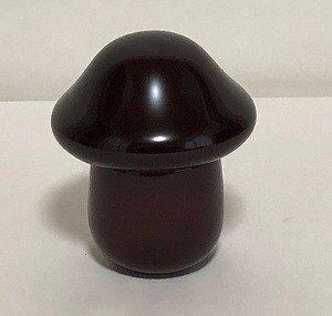 画像1: 寿次郎 溜塗りきのこ盃(さかずき)