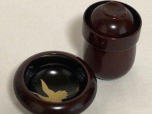 画像2: 寿次郎 溜塗りきのこ盃(さかずき)