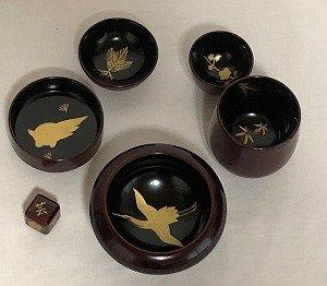 画像4: 寿次郎 溜塗りきのこ盃(さかずき)