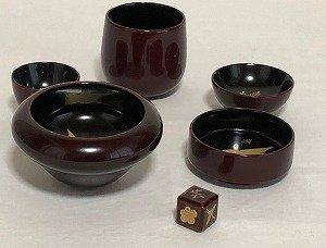 画像3: 寿次郎 溜塗りきのこ盃(さかずき)
