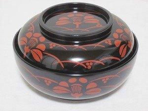 画像1: 『川連漆器 煮物椀』黒