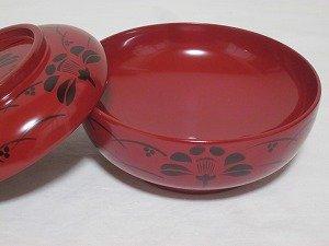 画像2: 『川連漆器 煮物椀』赤