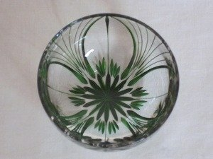 画像2: 川連漆器×江戸切子 ガラス器(大輪 緑)
